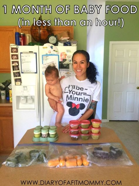 How to Prep One Month of Healthy Baby Food for Less Than Food For Less, Healthy Baby Food, Food Baby, 4 Month Baby Food, Baby Food Recipes Stage 1, Baby Food 5 Months, 4 Month Old Baby Activities, Baby Puree Recipes, Baby Food Puree