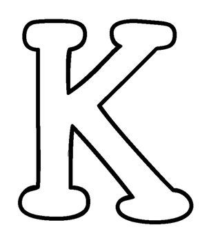 K Moldes Letra K Favoritos Abecedario Letras Grandes