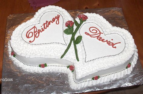 double heart cake~ by Cakes by Andrea, via Flickr