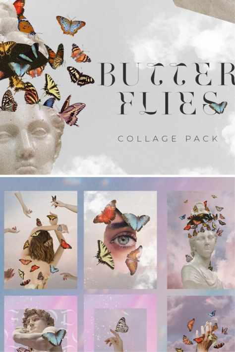 Butterflies. Collage Pack