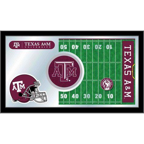 Texas A M Aggies Football Field Wall Mirror Aggie Football
