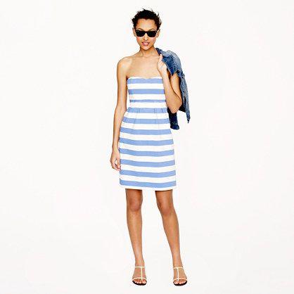 Stripe strapless dress - love! J.Crew