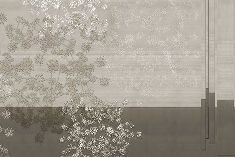 Washable vinyl wallpaper with floral pattern SINFONIA Concerto Collection By GLAMORA