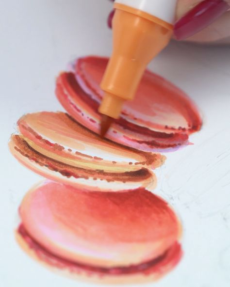 With #Arteza EverBlend Art Markers, you can make tasty treats like coffee and macarons!