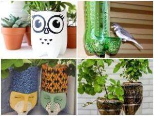 Artesanatos Com Garrafa Pet Para Jardim Garrafas Pet Garrafa