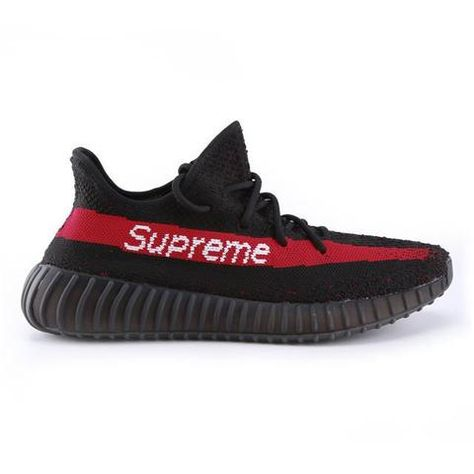 Adidas Yeezy Boost 350 Supreme Black Running Shoes