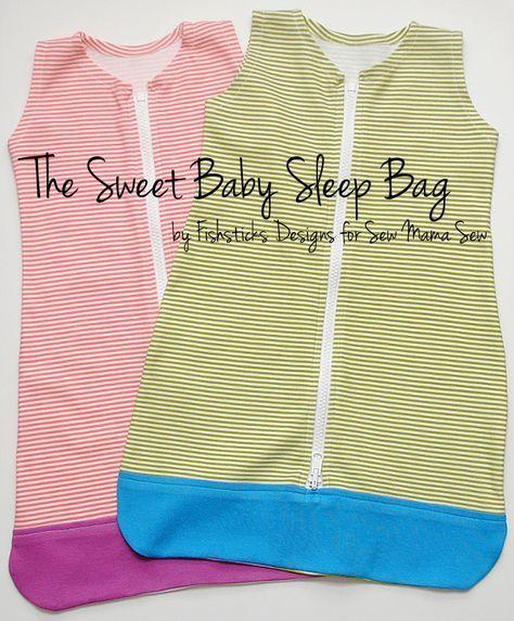 The Sweet Baby Sleep Bag Pattern at Sew Mama Sew | Fishsticks Designs Blog