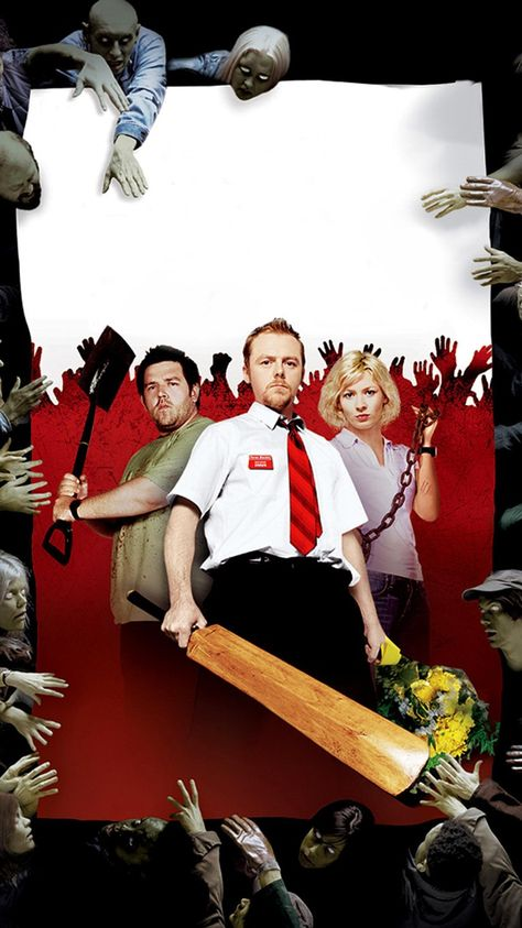 Shaun of the Dead movie mobile phone wallpaper