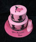 Ballroom dancing cake Dubai