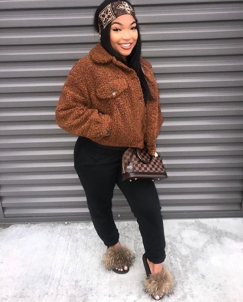image of kirah ominique ( wearing brown teddy bear coat by - Fall Fashion Trends - Autumn Fashion And Outfit Ideas