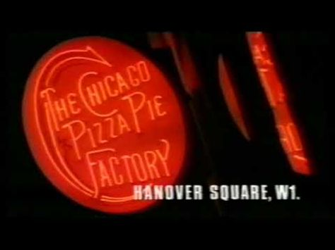 Chicago Pizza Pie Factory Advert 1988 Pizza Neon Signs