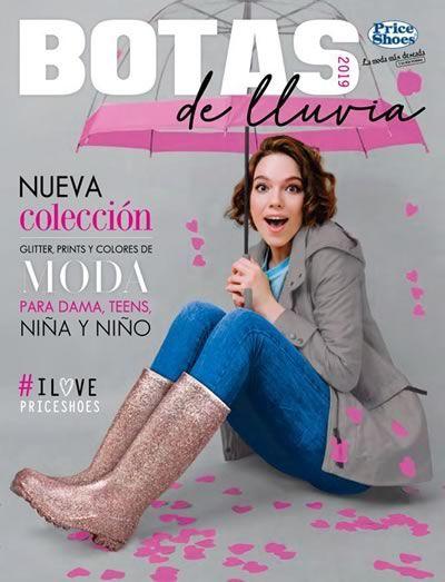 catalogo de botas de lluvia Price shoes 2018 Mexico