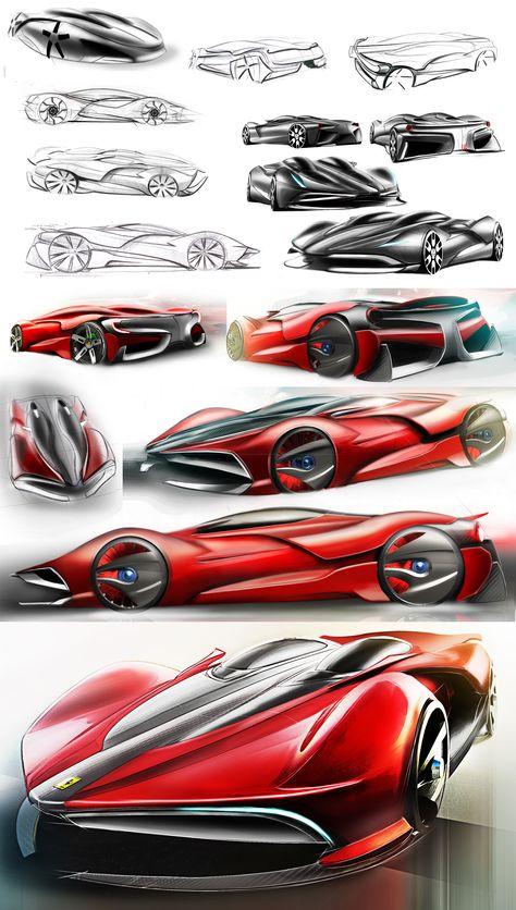 Ferrari Neo-Regime Prototype by Xavier Cuevas follow me on