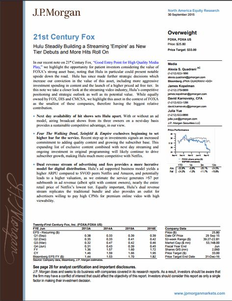 Sample Equity Research Report