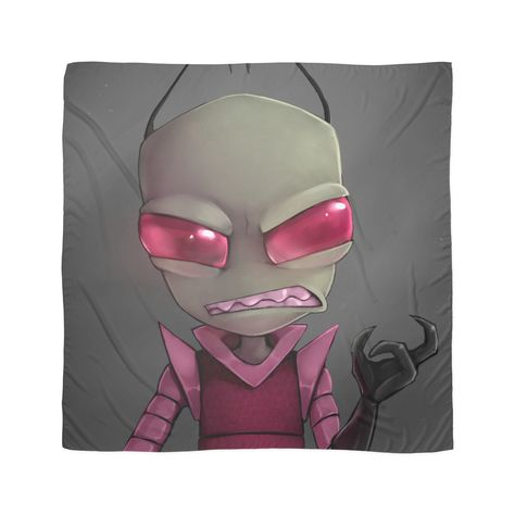 Painted Invader Zim Scarf