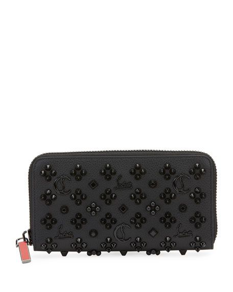 Christian Louboutin Mens Panettone Embellished Leather Wallet