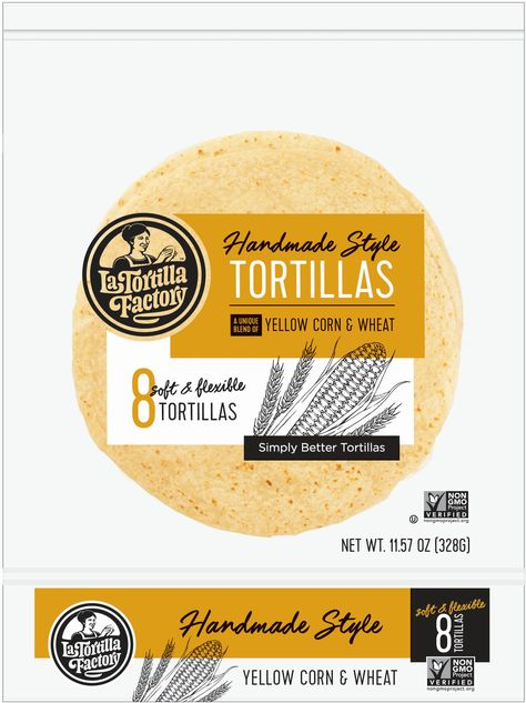 Let Us Take You Back To Grandma S Kitchen With These Flexible Yellow Corn Tortillas Soft Tender And Baked On Tortilla Factory Yellow Corn La Tortilla Factory