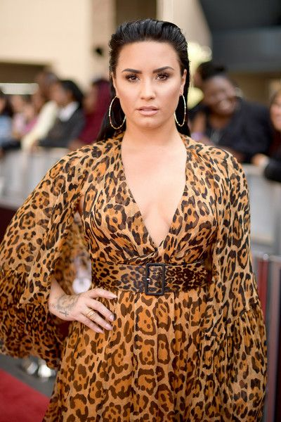 Recording artist Demi Lovato attends the 2018 Billboard Music Awards at MGM Grand Garden Arena.