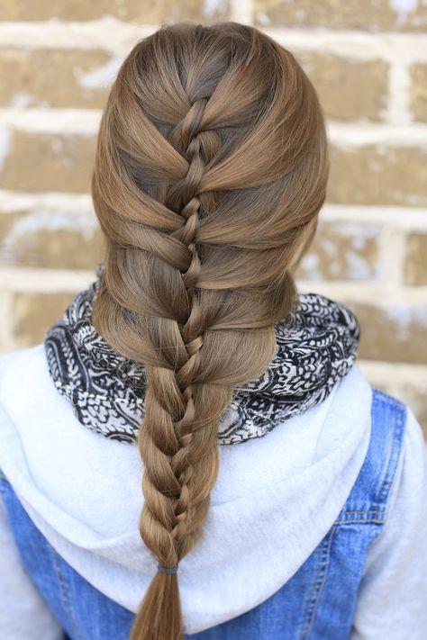 Twist Braid.  Looks hard but isn't :)   #braid #twist #cutegirlshairstyles #hairstyles #braids