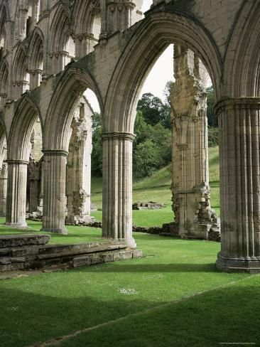 size: Photographic Print: Poster of Rievaulx Abbey, North Yorkshire by Roy Rainford : Travel Cathedral Architecture, French Architecture, Beautiful Architecture, Architecture Design, Futuristic Architecture, Yorkshire England, North Yorkshire, Cornwall England, Yorkshire Dales