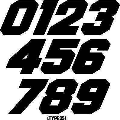 Custom Mx Number Plate Decals Motocross Stickers Snowmobile Racing