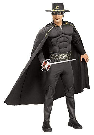 Legend of Zorro Deluxe Muscle Chest Adult Costume