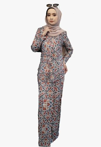 Kebaya Batik From Zoe Arissa In Brown Kebaya Batik Baju Kurung