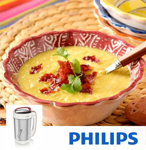 #Philips #VivaCollection #SoupMaker #HR2200 #sopa #RECETA SOPA DE MAÍZ DULCE CON BACON