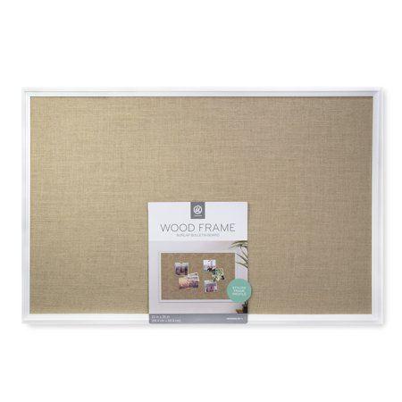 Buy U Brands Cork Bulletin Burlap Board 23 X 35 Inches White Mdf
