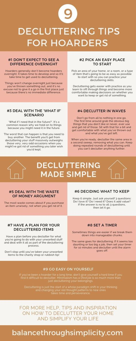 When you're a hoarder it can be difficult to know where and how to start to declutter your home and get control over your stuff and your space. Let me help with my top 9 decluttering tips for hoarders. If you live with a hoarder but are keen to try minimalist living for you and your family, this post will help you declutter and simplify your home too! #declutteringtips #declutter #minimalism #minimalistliving #simplify #minimalisthome