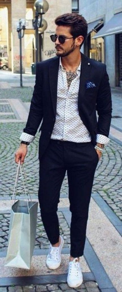 White sneakers men, Semi formal outfits