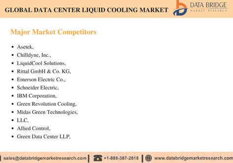 The Global Data Center Liquid Cooling Market Accounted For Usd