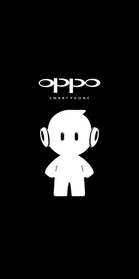 Oppo white ollie and black background