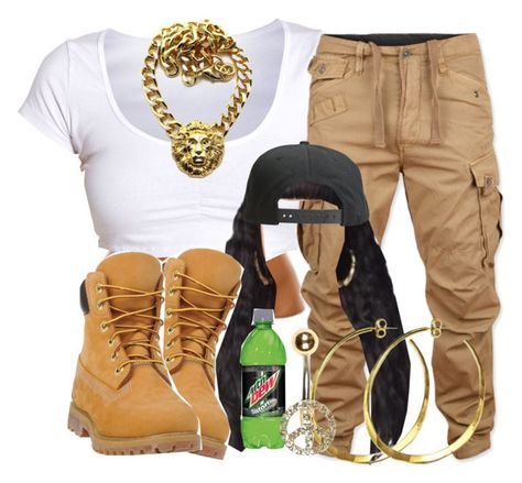 """""""."""" by trillest-queen ❤ liked on Polyvore featuring G-Star Raw, Nicki Minaj, Tavik Swimwear, Rebecca Norman, River Island and Timberland"""