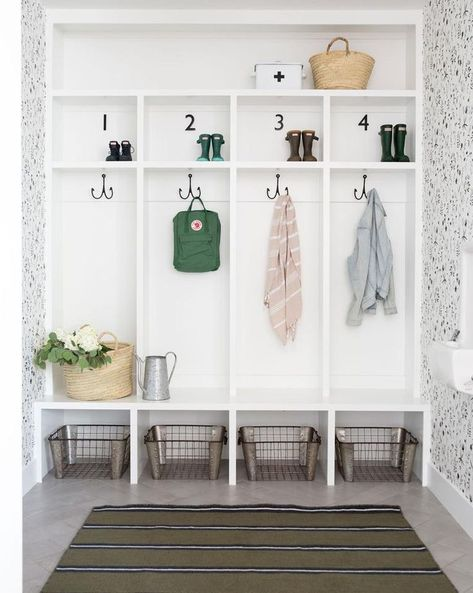 mudroom ideas 1 laundry room ideas garage entry THE WILLIAMSBURG Mudroom Bench Lockers Cubbies Storage Halltree Furniture Mudroom Cubbies, Mudroom Laundry Room, Mud Room Lockers, Mud Room Garage, Mudroom In Closet, Garage Entry, Mudroom Bench Plans, Built In Lockers, Home Lockers