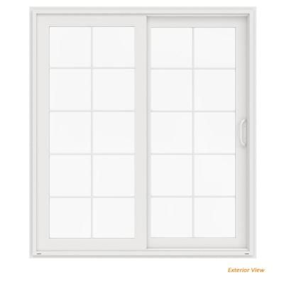 Simonton White 3 Panel French Rail Sliding Patio Door With Prosolar Low E Glass Custom Interior Hardware Frd 1208 In 2020 Sliding Patio Doors Patio Doors French Doors