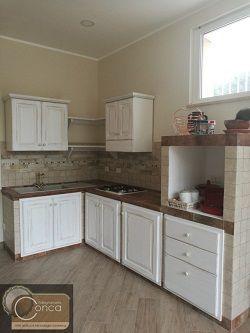 Cucina in Muratura Shabby Chic | Cucina in muratura, Mobili ...