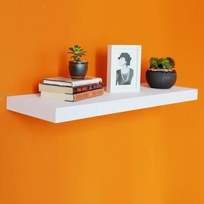 12 Inch Deep Grande Floating Wall Shelf 35 43 L X 11 81 D X 2 T Floating Wall Shelves White Floating Shelves Floating Shelves