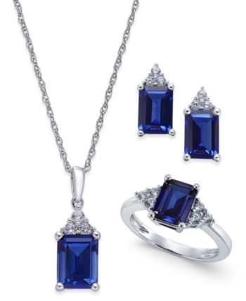 12+ Lab created blue sapphire jewelry ideas in 2021