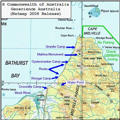 Bathurst Bay Camping Map Should Be Used As A Guide Only It Is Very Handing For Giving You An Idea Of Where Sites Are Located If Planning T