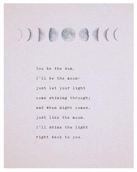 Es que el sol poema de amor enfermo de ser la luna fases de | Etsy