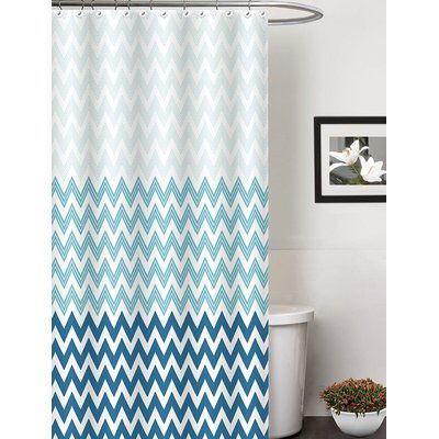 Belote Contemporary Single Shower Curtain Contemporary Shower