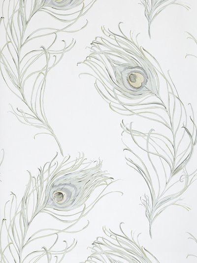 lovely peacock feather wallpaper - John Lewis
