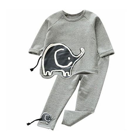 4b8fe6d3 DaySeventh Toddler Girls Outfit Clothes Set Cute Elephant Long Sleeve T-shirt  Tops Pants Set
