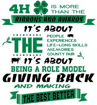 So true - 4-H is so much more than ribbons and awards!   4-H