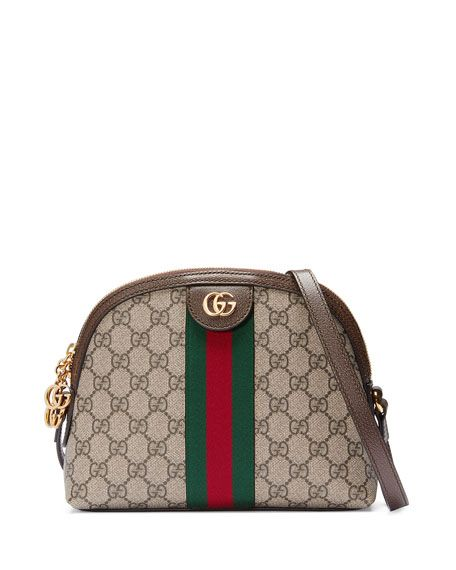 f1c29d41d Get free shipping on Gucci Linea Dragoni GG Supreme Canvas Small Shoulder  Bag at Neiman Marcus. Shop the latest luxury fashions from top designers.