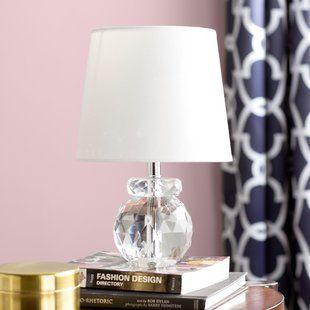 Crystal Table Lamps You Ll Love Wayfair Clear Table Lamp Table Lamp Crystal Table Lamps