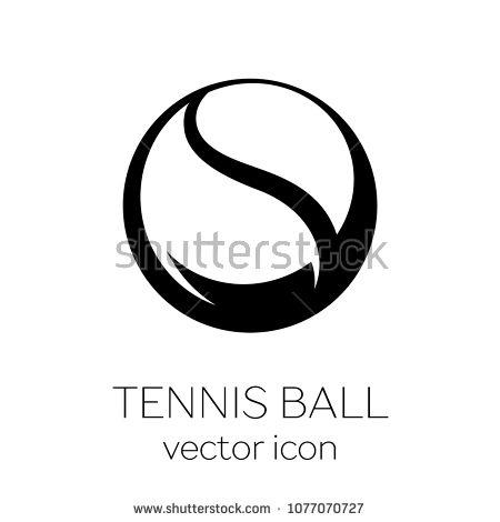 Tennis Ball Icon Tennis Ball Black And White Illustration Icon