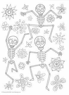 Dibujos Para Colorear El Día De Los Muertos 39 Muerteada