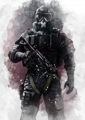Mute Rainbow Six Gaming Poster Print Metal Posters In 2020 With